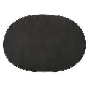 Ørskov Pöytätabletti Oval Musta 35x48 Cm