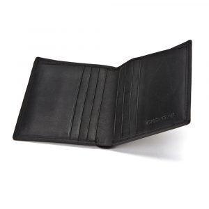 Ørskov Pocket Card Double Kortinpidike Musta Nahka