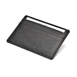 Ørskov Pocket Card Single Kortinpidike Musta Nahka