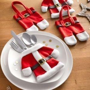 4-Osainen Joulukoristesetti Punainen