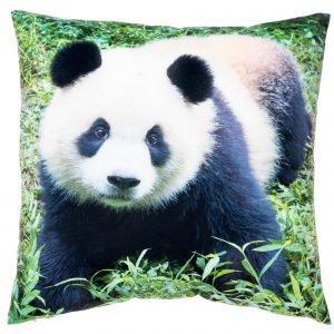 4living Panda Metsässä Samettityyny