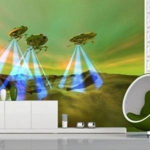 Ag Design Fleece-Kuvatapetti Aliens 360x270 Cm