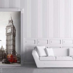Ag Design Fleece Kuvatapetti Big Ben And Double Decker 90x202 Cm