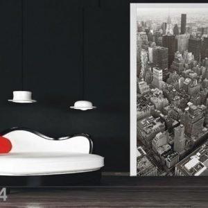 Ag Design Fleece Kuvatapetti Bird'S-Eye View Of The City 90x202 Cm