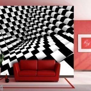 Ag Design Fleece-Kuvatapetti Black And White Dice 360x270 Cm
