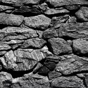Ag Design Fleece Kuvatapetti Black Stone Wall 360x270 Cm