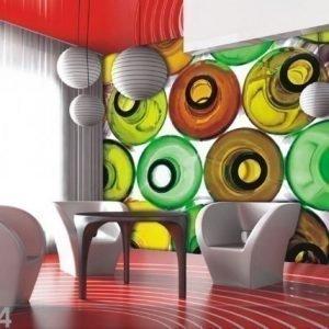 Ag Design Fleece-Kuvatapetti Bottles 360x270 Cm