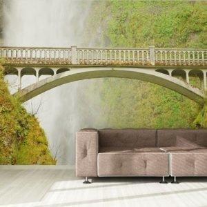 Ag Design Fleece Kuvatapetti Bridge Near Waterfall 360x270 Cm