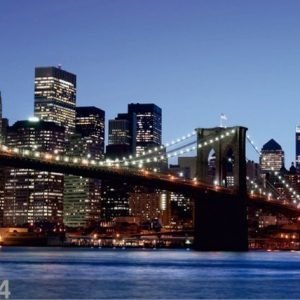 Ag Design Fleece Kuvatapetti Brooklyn Bridge 360x270 Cm