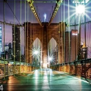 Ag Design Fleece Kuvatapetti Brooklyn Bridge 6 360x270 Cm