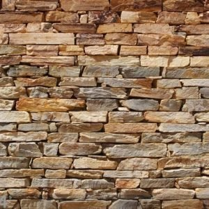 Ag Design Fleece Kuvatapetti Brown Stone Wall 360x270 Cm