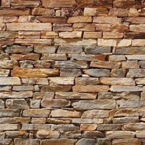 Ag Design Fleece Kuvatapetti Brown Stone Wall 360x270 Cm