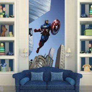Ag Design Fleece Kuvatapetti Captain America 90x202 Cm