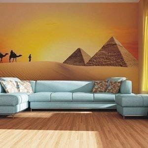 Ag Design Fleece-Kuvatapetti Caravan In The Desert 360x270 Cm