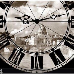 Ag Design Fleece Kuvatapetti Clock 360x270 Cm