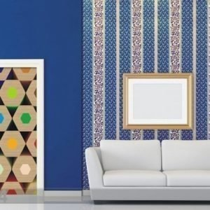 Ag Design Fleece Kuvatapetti Colored Pencils 90x202 Cm