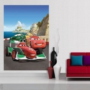 Ag Design Fleece Kuvatapetti Disney Cars 2 Race 180x202 Cm