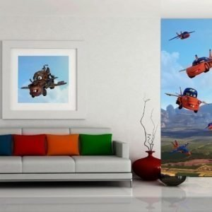 Ag Design Fleece Kuvatapetti Disney Cars Flies 90x202 Cm