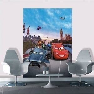 Ag Design Fleece Kuvatapetti Disney Cars In London 180x202 Cm
