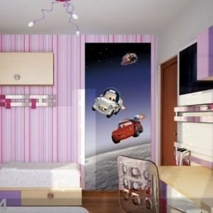 Ag Design Fleece Kuvatapetti Disney Cars In Space 90x202 Cm