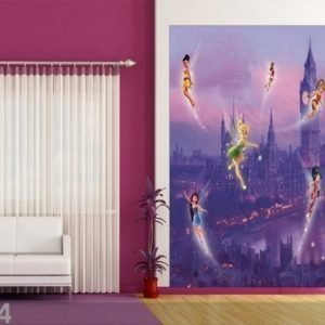 Ag Design Fleece Kuvatapetti Disney Fairies In London 180x202 Cm