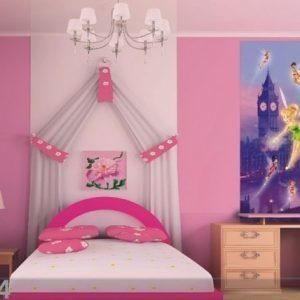 Ag Design Fleece Kuvatapetti Disney Fairies In London 90x202 Cm