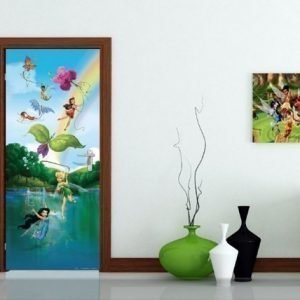 Ag Design Fleece Kuvatapetti Disney Fairies In The Rainbow 90x202 Cm