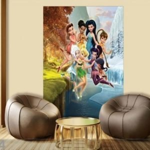 Ag Design Fleece Kuvatapetti Disney Fairis Playing 180x202 Cm
