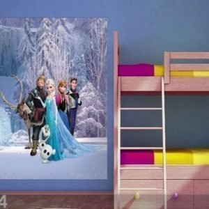 Ag Design Fleece Kuvatapetti Disney Ice Kingdom 180x202 Cm