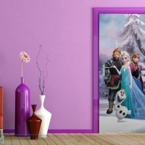 Ag Design Fleece Kuvatapetti Disney Ice Kingdom 90x202 Cm