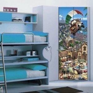 Ag Design Fleece Kuvatapetti Disney Mater Parachute 90x202 Cm