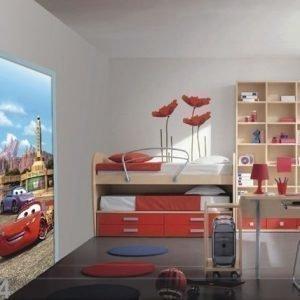 Ag Design Fleece Kuvatapetti Disney Mcqueen And Sally 90x202 Cm