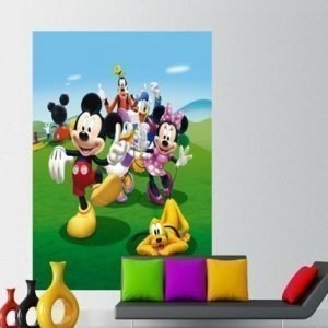 Ag Design Fleece Kuvatapetti Disney Mickey And Friends 180x202 Cm