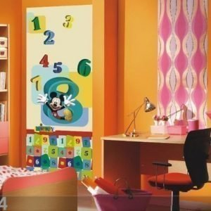 Ag Design Fleece Kuvatapetti Disney Mickey And Numbers 90x202 Cm