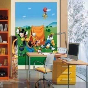 Ag Design Fleece Kuvatapetti Disney Mickey Picnic 180x202 Cm