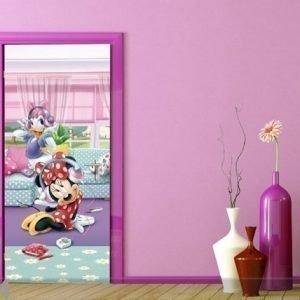 Ag Design Fleece Kuvatapetti Disney Minnie And Daisy Dancng 90x202 Cm