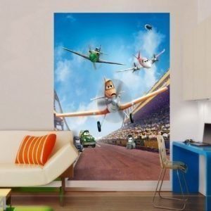 Ag Design Fleece Kuvatapetti Disney Planes 180x202 Cm