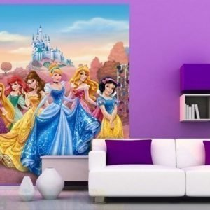 Ag Design Fleece Kuvatapetti Disney Princess 180x202 Cm