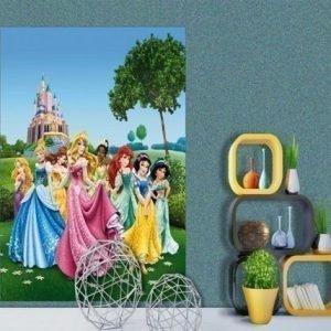 Ag Design Fleece Kuvatapetti Disney Princess 180x202 Cm