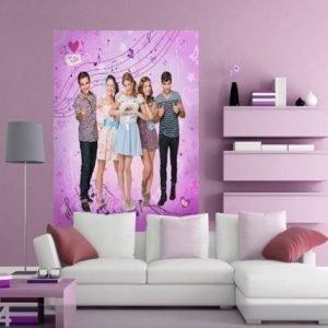 Ag Design Fleece Kuvatapetti Disney Violetta 180x202 Cm