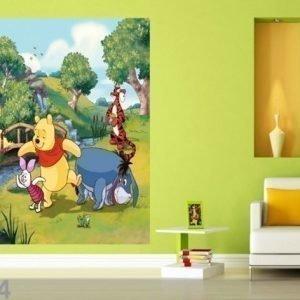 Ag Design Fleece Kuvatapetti Disney Winney The Pooh 180x202 Cm