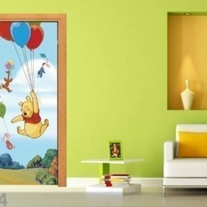 Ag Design Fleece Kuvatapetti Disney Winnie The Pooh Flies 90x202 Cm
