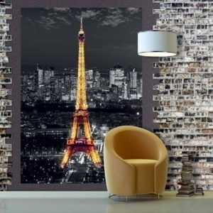 Ag Design Fleece Kuvatapetti Eiffel Tower At Night 180x202 Cm