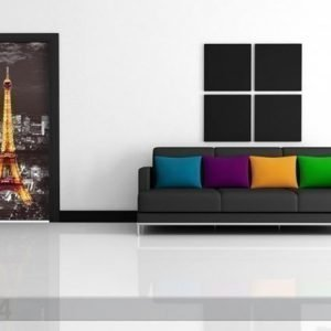 Ag Design Fleece Kuvatapetti Eiffel Tower At Night 90x202 Cm