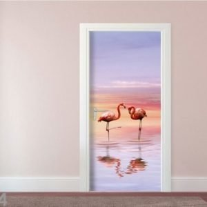 Ag Design Fleece Kuvatapetti Flamingos 90x202 Cm