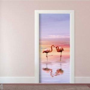 Ag Design Fleece Kuvatapetti Flamingos 90x202 Cm