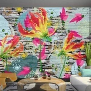Ag Design Fleece-Kuvatapetti Flora Futura 360x270 Cm