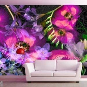 Ag Design Fleece-Kuvatapetti Flower 360x270 Cm