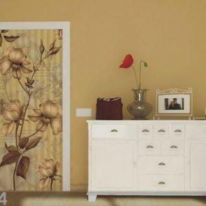 Ag Design Fleece Kuvatapetti Golden Rose 90x202 Cm