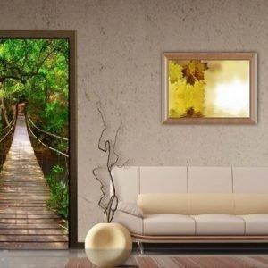 Ag Design Fleece Kuvatapetti Green Bridge 90x202 Cm